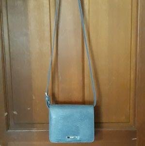 Ninewest blue over-the-shoulder purse